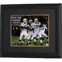 Peyton Manning signed Indianapolis Colts 16X20 Photo Custom Framed Multi Exposure 4 Time AP NFL MVP