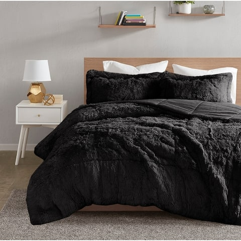 Intelligent Design Leena Shaggy Faux Fur Comforter Set