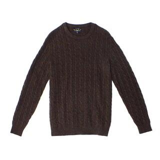 Club Room NEW Brown Mens Size Medium M Crewneck Cashmere Sweater