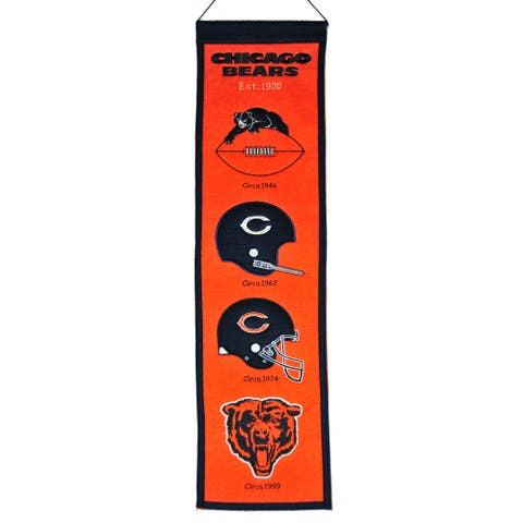 Chicago Bears Fan Favorite Heritage Banner