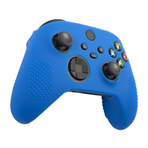 Insten Silicone Rubber Skin Case Cover Grip for Xbox Series X/S Controller,Blue - Blue