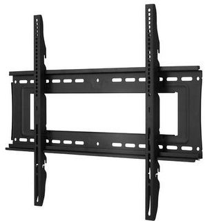Atdec Th-40100-Uf Heavy Duty Fixed Display Tv Wall Mount With Lockable Security Bar For Displays Up To 330-Pound, Black
