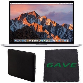 "Apple 15.4"" MacBook Pro with Touch Bar (Silver) #MPTU2LL/A + Padded Case For Macbook + Fibercloth Bundle"