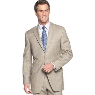 Ralph Lauren Regular Fit Tan Glen Plaid Wool 2-Button Sportcoat 40 Short 40S