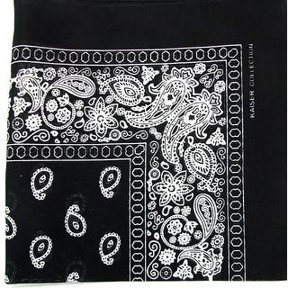 Novelty Bandanas Paisley Cotton Bandanas (Black, 22 X 22 in)