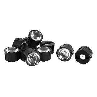 Unique Bargains 10 Pcs 60 Degree Wide Angle Condenser Light LED Optical Lens w Black Holder