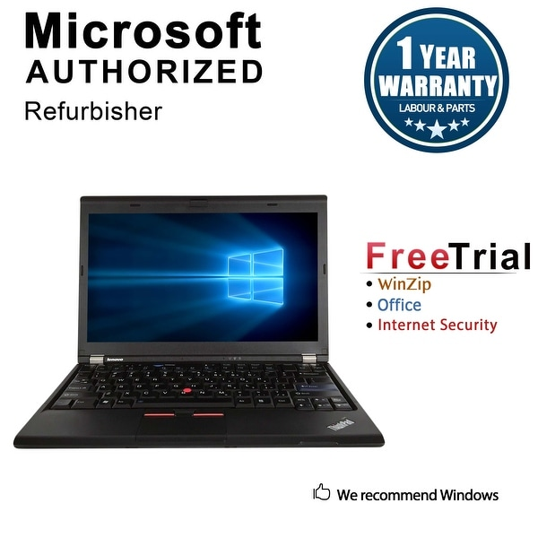 "Refurbished Lenovo ThinkPad X220 12.5"" Laptop Intel Core I5 2520M 2.5G 4G DDR3 160G DVD Win 10 Professional 64 1 Year Warranty"