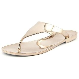 BCBGeneration Star Women Open Toe Synthetic Bronze Thong Sandal