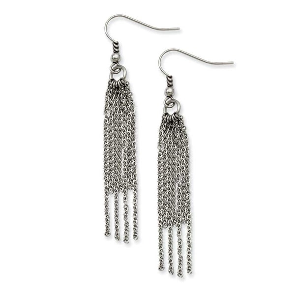 Stainless Steel Multistrand Dangle Earrings