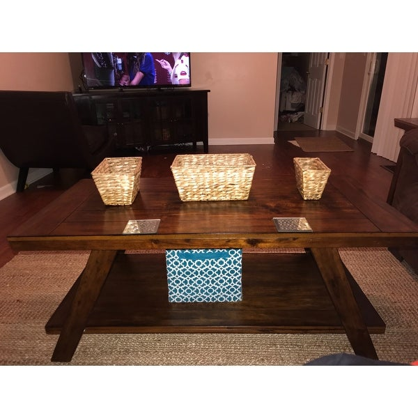 Bradley Coffee Table.Ashley Furniture T392 13 Bradley Burnished Brown Table W Replicated Plank Tabletop Set Of 3