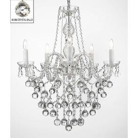 Swarovski Crystal Trimmed Chandelier LightingFaceted Crystal Balls