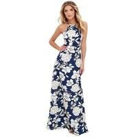 7430e62274 S-5Xl Summer Floral Print Beach Maxi Dress Women Hot Off Shoulder Boho Long  Dress