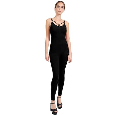 NE PEOPLE Womens Cross Strap Sleeveless Sexy Bodycon Jumpsuits-NEWJS07