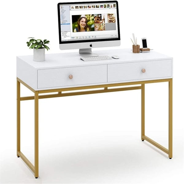 47-inch Computer Desk Writing Desk with 2 Drawers. Opens flyout.