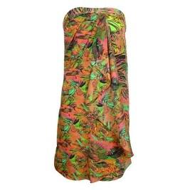 Neon for Impulse Women's Strapless Floral Dress - Orange Multi