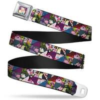 Alice Cards Full Color Pinks Alice In Wonderland Kaleidoscope Scenes Seatbelt Belt
