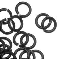 Artistic Wire, Chain Maille Jump Rings, 18 Ga / ID 3.97mm / 150pc, Black Color