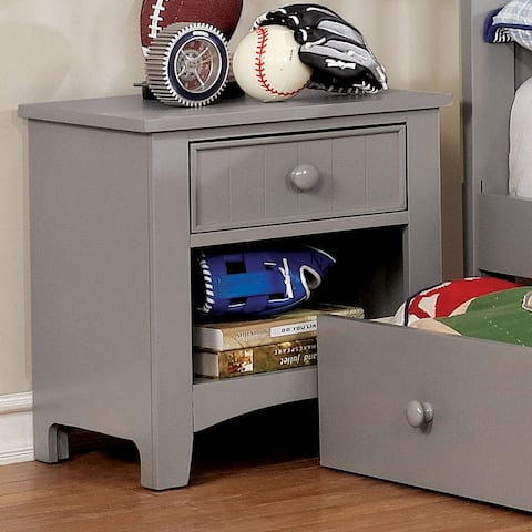 Furniture of America Deer Transitional Grey Youth Nightstand
