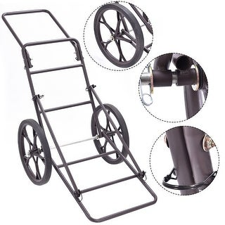 Costway New Deer Cart Game Hauler Utility Gear Dolly Cart Hunting Accessories - 500 LB - as pic