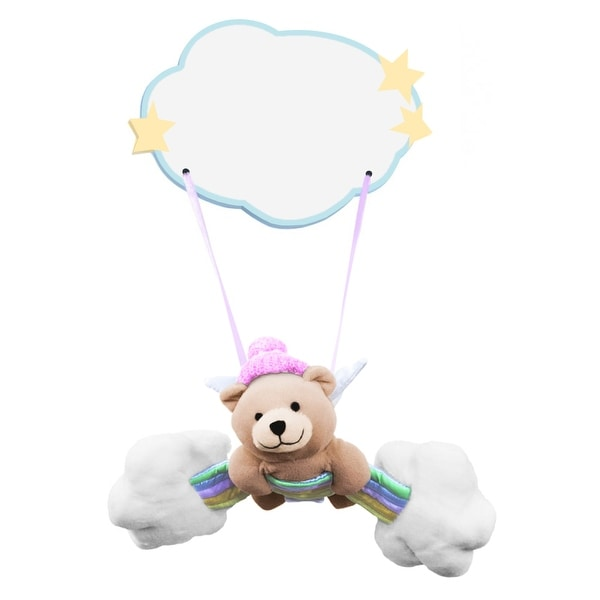 Plush Baby Girl Bear Hanging Name Plaque