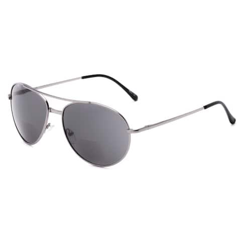Readers.com The Hendrix Bifocal Reading Sunglasses Aviator Reading Glasses