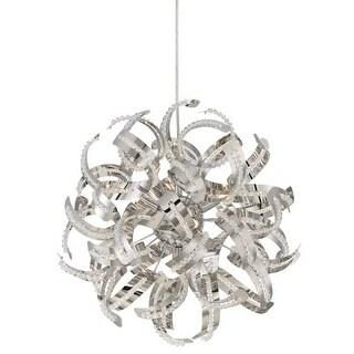 "Platinum RBN2817 Ribbons 5 Light 17"" Contemporary Globe Pendant"