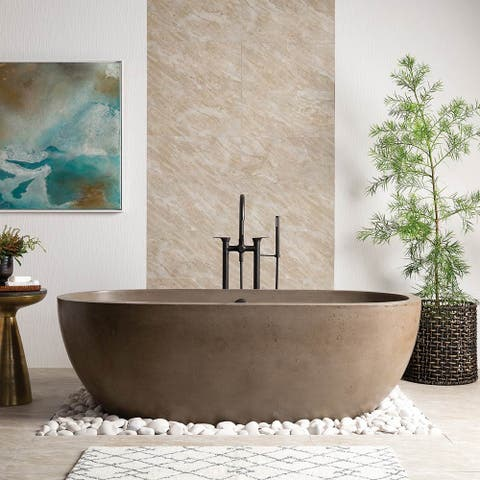 Avalon NativeStone Freestanding Soaking Tub