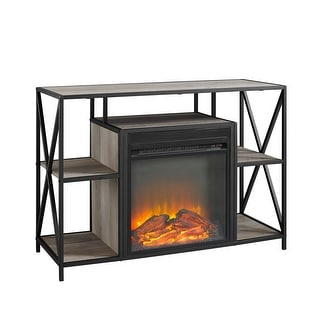 """Delacora WE-BD40FPXFJ  40"""" Wide Laminate, Wood and Metal TV Stand with Fireplace"""