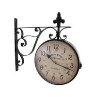 London Bridge Station Double Sided Wall Mounted Clock - 14.5 X 15 X 3 inches