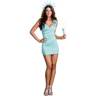 Dreamgirl Miss Liberty Adult Costume - Blue