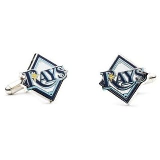 Silver Plated Tampa Bay Rays Cufflinks
