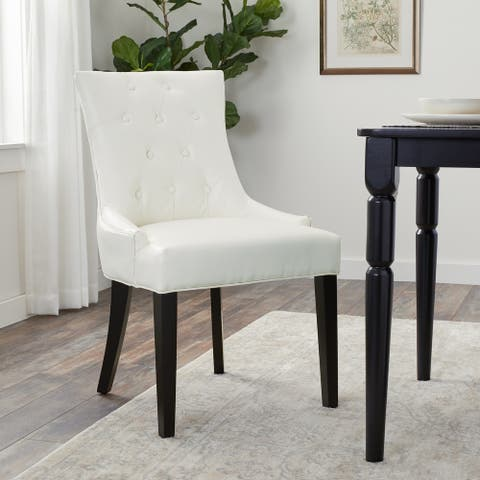 Abbyson Napa Ivory Leather Dining Chair