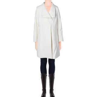 Elie Tahari Womens Wool Asymmetric Coat - 6