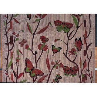 Handmade 100% Cotton Butterfly Floral Print Tapestry Tablecloth Spread 88x104 Full