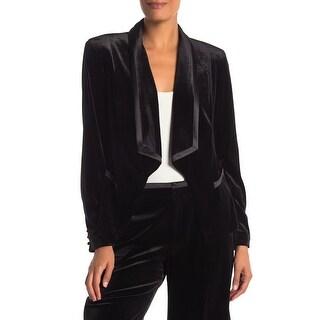 Women's Velvet Shawl Front Blazer Jacket by Laundry L1KH8008SU