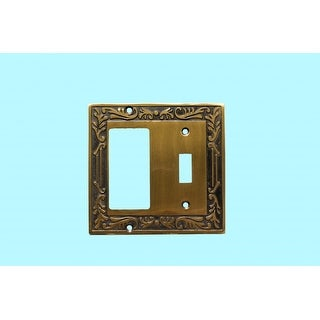 Victorian Switch Plate Toggle GFI Antique Solid Brass