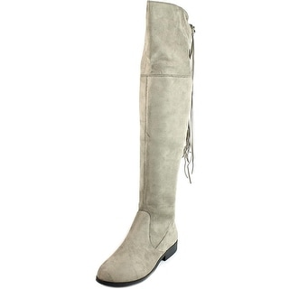 LFL Rascal Women Round Toe Canvas Tan Over the Knee Boot