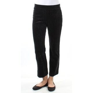 Womens Black Casual Cropped Pants Size XS