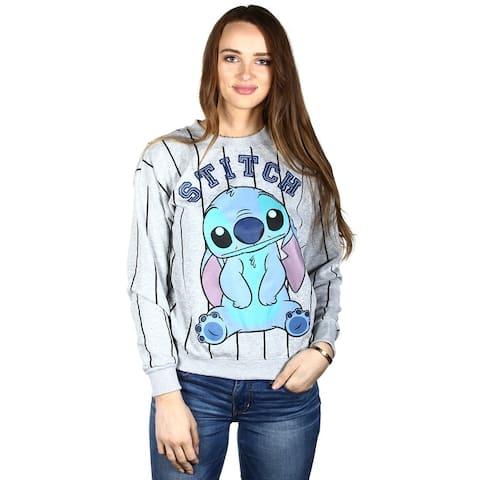 Disney Lilo & Stitch Juniors Crew Neck Sweatshirt