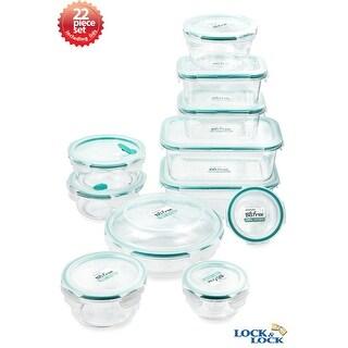 Lock&Lock 22 Piece Eco-Friendly Spill-proof Bisfree Food Storage Container Set