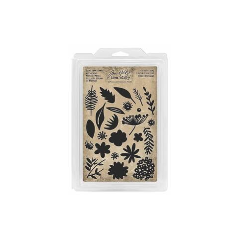 Tim Holtz Idea-ology Foam Stamp Cutout Floral
