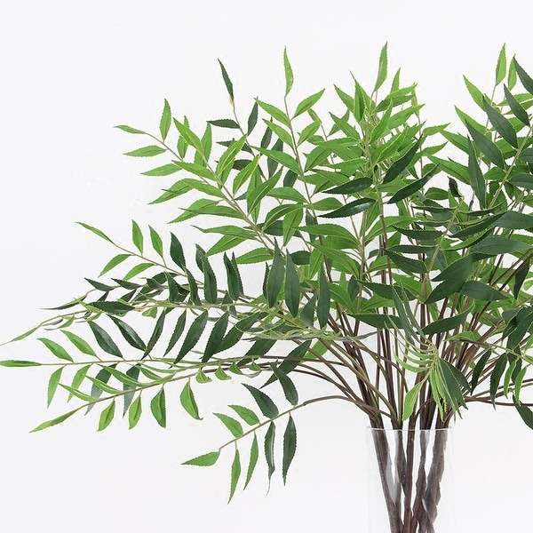 "FloralGoods Artificial Bamboo Leaf Stems 35"" Tall"
