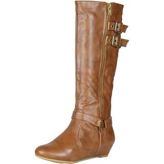 Bamboo Womens Tamara-48 Boots - Chestnut - 5.5 b(m) us
