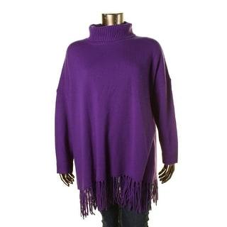 Lauren Ralph Lauren Womens Cashmere Blend Fringe Pullover Sweater