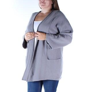ALFANI $180 Womens New 1508 Gray Pocketed Open Dolman Sleeve Sweater XL B+B