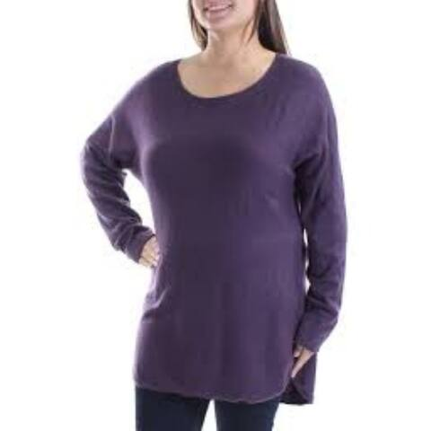 Inc International Concepts Dolman Sleeve Tunic Sweater, Blackberry Jam, X-Small