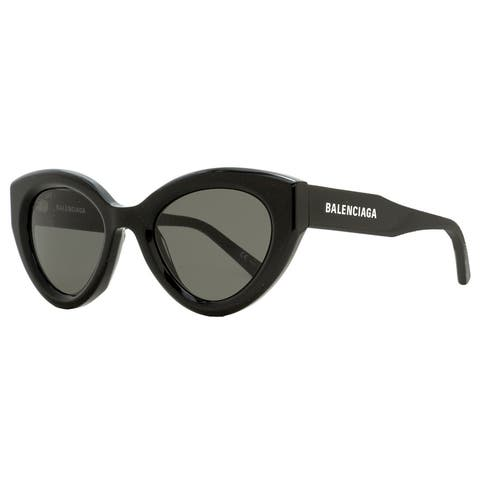 Balenciaga BB0073S 001 Womens Black/Gold 51 mm Sunglasses