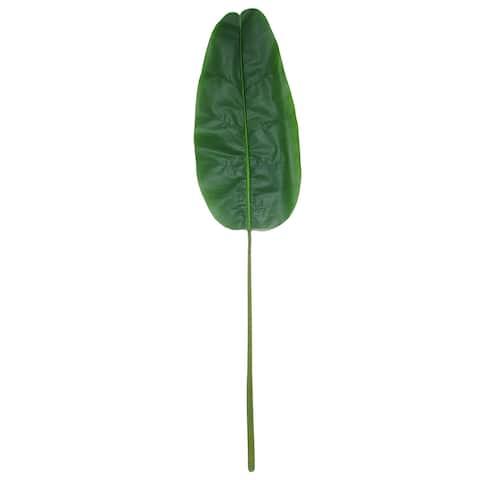 "Set of 2 Large Banana Travelers Palm Leaf Stem Greenery Spray 57in - 57"" L x 13"" W x 1"" DP"