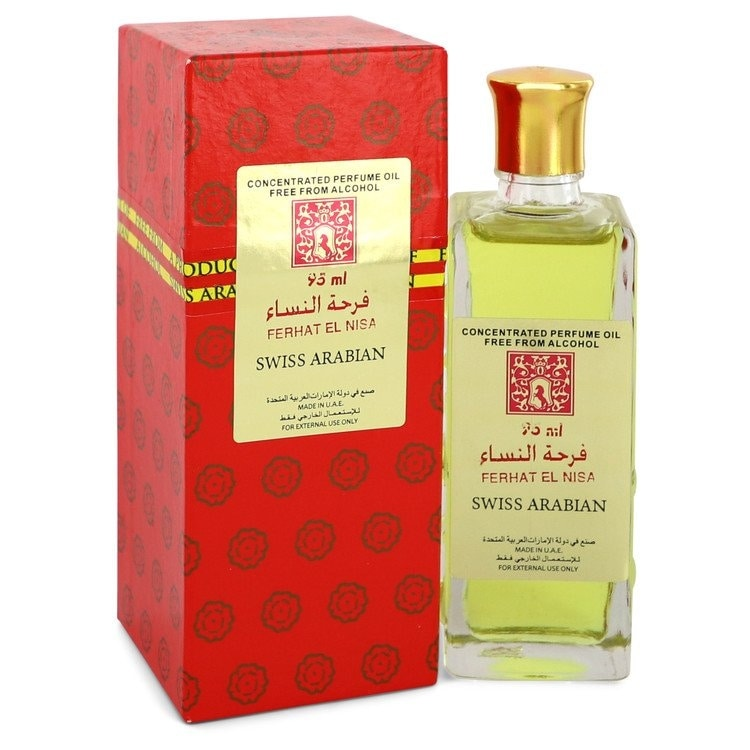 Ferhat El Nisa by Swiss Arabian Concentrated Perfume Oil Free From Alcohol (Unisex) 3.2 oz For Women (3.1 - 4 Oz.)