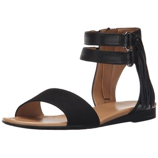 Franco Sarto Womens L-Greer Leather Open Toe Casual Gladiator Sandals